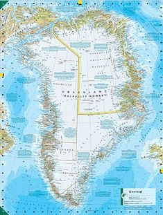 Greenland may lose more ice than expected sea level greenland map biggest island in the world gumiabroncs Choice Image