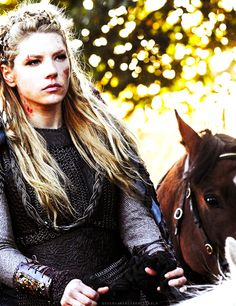 Vikings shield maiden Lagertha--one bad-a** warrior woman!