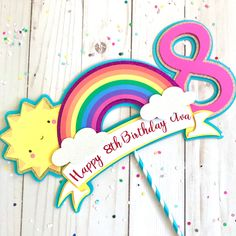 Rainbow Birthday Decorations, Rainbow Birthday Party, Diy Birthday, 1st Birthday Parties, Birthday Wishes, Birthday Cards, Paris Birthday, Halloween Stuff, Halloween Halloween