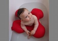 babies are too cute, even in this extra special bath ring!