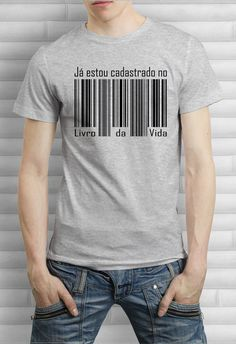Camiseta Estou Cadastrado Polo Shirt Design, Shirt Print Design, Shirt Designs, Christian Hoodies, Christian Clothing, Shirt Shop, T Shirt, Shirt Men, Mens Fashion Sweaters