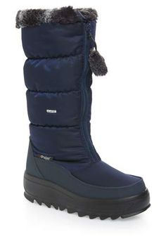 New Pajar Toboggan 2 Faux Fur Trim Insulated Waterproof Boot (Women) online. Find the great womens-shoes from top Shoes store. Winter Flats, Winter Snow Boots, Navy Blue Shoes, Shoe Deals, Fur Boots, Women's Feet, Kids Boots, Dress With Boots, Waterproof Boots