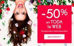 Hasta un 50% de descuento en toda la web de Yves Rocher