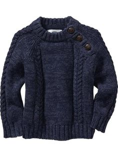 Cable-Knit Shoulder-Button Sweaters for Baby Product Image size 2T: