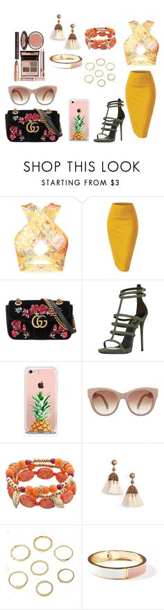 """Sin título #853"" by ary-polyvore-outfits ❤ liked on Polyvore featuring Gucci, The Casery, Loren Hope, Old Navy and Charlotte Tilbury"