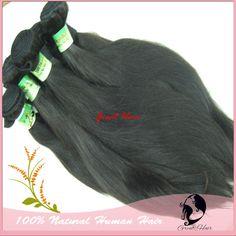 100% Natural Brasileira Virgem Cabelo Humano Hair Extension, Straight, Natural Color, 100gpc, 22-30inch Free Shipping hair ring