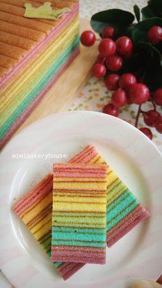 MiMi Bakery House: Kek Lapis Rainbow 3 [13 Mar 2016]