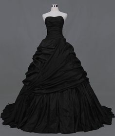 beautiful...a black wedding dress?