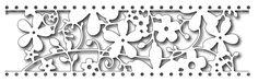Frantic Stamper Precision Die - Floral Card Band,$18.99