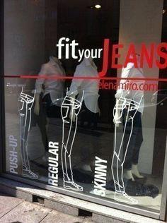 Resultado de imagen para jeans & pants displays