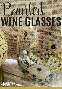 1000 ideas about girls night crafts on pinterest craft for What paint do you use to paint wine glasses