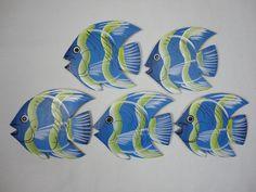 Quinteto de peixe. - Madeira