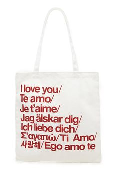 I Love You Graphic Canvas Tote | Forever 21 - 1000169050