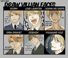 Ignore the Hetalia bit, but this is a nice facial expression exercise