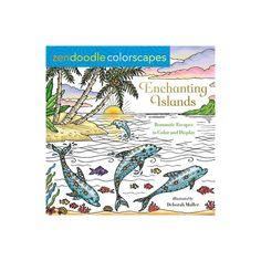 Zendoodle Colorscapes: Enchanting Islands - by Deborah Muller (Paperback) Doodle Coloring, Coloring Books, Whimsical Fashion, Zen Doodle, Labradoodle, Laguna Beach, Islands, Doodles, Products