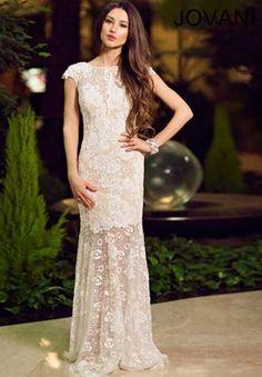 2014 Jovani High Neckline Prom Dress 88435