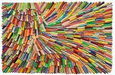 This is a piece by artist Omar Chacon. You can see more of his work at http://www.juxtapoz.com/Current/the-colorful-layers-of-omar-chacon.
