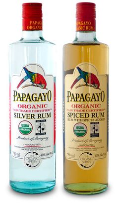 Papagayo Silver Rum & Spiced Rum - Exceptional Organic, Fair Trade Certified Rum from Paraguay  (To make homemade extracts.)