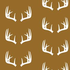 Antlers  // Young and Brave fabric by littlearrowdesign on Spoonflower - custom fabric