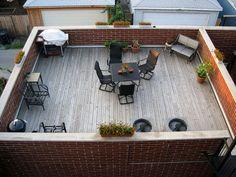 patio on garage roof