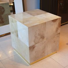 Parchment cube by Birgit Israel | COFFEE & SIDE TABLES in the Signature Collection