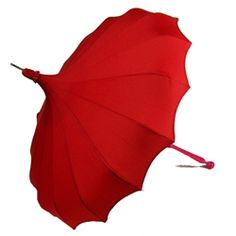 Stylish and sexy, this ravishing red pagoda umbrella is based on a beloved vintage style.