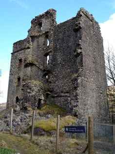 Invergarry Castle, seat of the MacDonnells of Invergarry