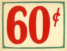 Antique Graphics Wednesday - Grocery Store Price Tags and Receipt - Knick of Time