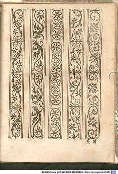 Border Pattern, Border Design, Pattern Art, Pattern Design, Hand Embroidery Design Patterns, Doodle Patterns, Machine Embroidery Designs, Medieval Pattern, Medieval Art