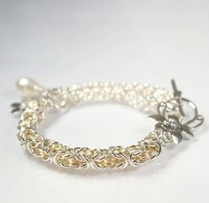 Byzantine and JPL, sterling silver/14 K goldfilled
