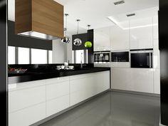 biala kuchnia z czarnym blatem - Szukaj w Google