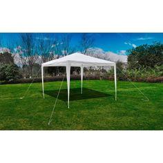 Garden Gazebo Aluminum Steel Frame White Color Tarp Patio Lawn Outdoor Furniture