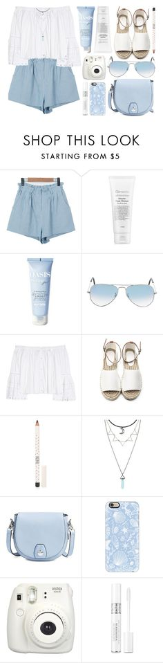 """Blue Sea & White Sand"" by monmondefou ❤ liked on Polyvore featuring Ray-Ban, Carolina Herrera, Topshop, rag & bone, Casetify, Fujifilm, Christian Dior, white and Blue"