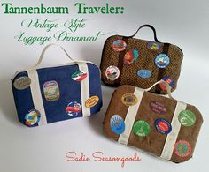 Tannenbaum Traveler: Vintage-Style Luggage Ornaments
