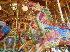 Merry-Go-Around at Southport Steam Fair, UK