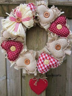 odds and ends: Shabby Chic Christmas, Christmas Sewing, Noel Christmas, Christmas Wreaths, Christmas Crafts, Christmas Ornaments, Valentine Wreath, Valentine Day Crafts, Valentines
