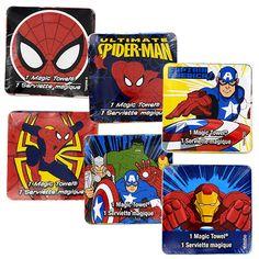 Marvel Expanding Magic Towels