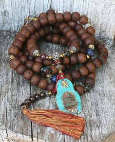 Bodhi Seed Mala necklace by look4treasures on Etsy