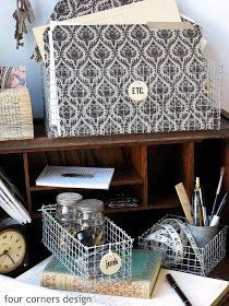 DIY wire baskets from hardware cloth! four corners design: Wonderfully wired