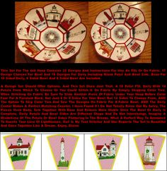 "Free Standing ""Christmas Lighthouse Bowl and Doily Set 1"" is a huge set, that includes 33 designs for use as free standing lace or to stitch on fabric. Wonderful for nautical fans. Instructions included! #lighthouseembroiderydesign #freestandingmachineembroidery #machineembroiderydesign"