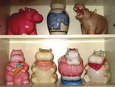 Hippo Cookie Jars
