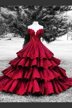 Wedding Dresses Red, Wedding Dresses With Appliques, Ball Gown Wedding Dresses #WeddingDressesRed #WeddingDressesWithAppliques #BallGownWeddingDresses, Wedding Dresses 2018