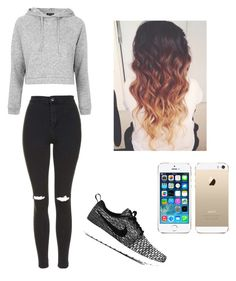 """""""Untitled #11"""" by shortykathy41 on Polyvore featuring Topshop, NIKE and FingerPrint Jewellry"""