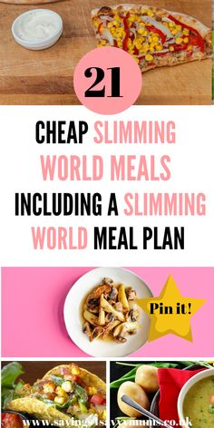 Slimming World Meal Plan: 7 Days of Cheap Slimming World Meals - Savings 4 Savvy Mums astuce recette minceur girl world world recipes world snacks Slimming World Quick Meals, Slimming World Menu, Slimming World Recipes Syn Free, Slimming World Meal Planner, Slimming World Fakeaway, Slimming Eats, Sw Meals, Frugal Meals, Cheap Meals