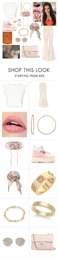 """""""Gyal"""" by divinemaboundou ❤ liked on Polyvore featuring Puma, Tiger Mist, Gioelli, Cartier, Gucci and Chanel"""