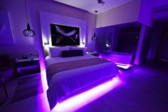 CHIC by Royalton Resorts - Adults Only, All Inclusive in Punta Cana Neon Bedroom, Bedroom Setup, Room Design Bedroom, Room Ideas Bedroom, Bedroom Styles, Bedroom Decor, Awesome Bedrooms, Cool Rooms, Dream Rooms