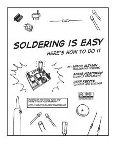 How to Solder Comic - Good beginners Guide