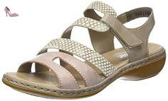 Rieker 65973-31, Bout Ouvert Femme, Rose (Rosa/Kiesel/Steel), 39 EU - Chaussures rieker (*Partner-Link)