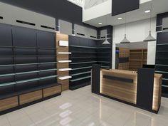Φαρμακεία | Φόρμα Πουράνης Supermarket Design, Retail Store Design, Golf Design, Mobile Shop Design, Clothing Store Interior, Office Table Design, Showroom Interior Design, Counter Design, Shop Interiors