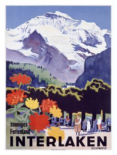 another old but fancy tourism-advertising for Interlaken/Switzerland